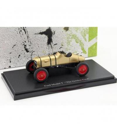 AutoCult Ford Model T The Golden Ford Baujahr 1911 gold 1:43, Modellfahrzeug(gold)