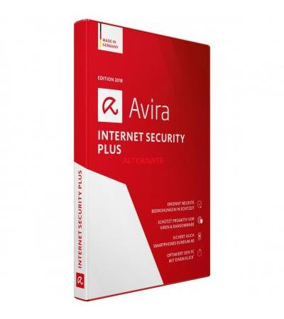 Avira InternetSecurity Plus 2018, Sicherheit-Software(2 Jahre)