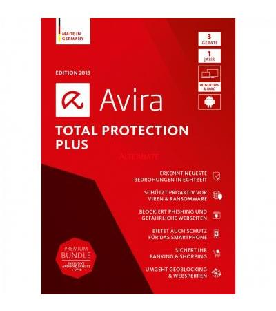 Avira Total Protection Plus 2018, Sicherheit-Software(1 Jahr)