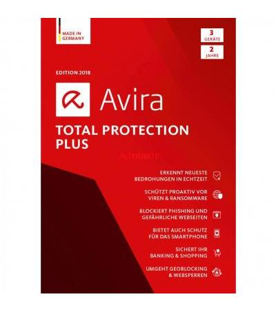 Avira Total Protection Plus 2018, Sicherheit-Software(2 Jahre)