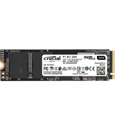 Crucial P1 500 GB, Solid State Drive(PCIe 3.0 x4, M.2)