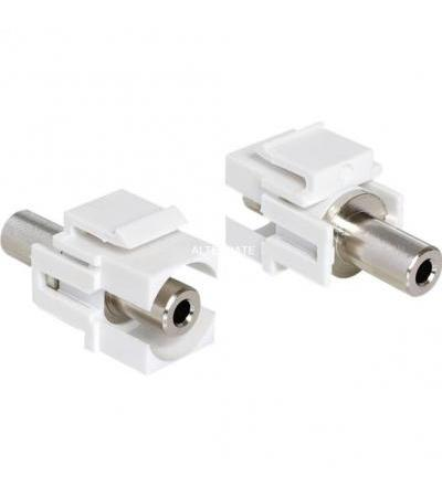 DeLOCK Keystone Klinke 3,5mm Bu/Bu, Adapter(weiß)