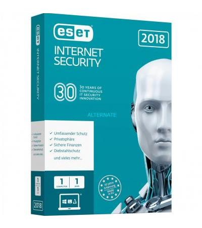 ESET Internet Security 2018, Sicherheit-Software(1 Jahr, Mini Box)