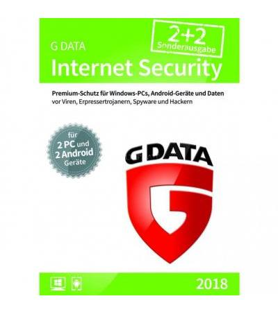G DATA Internet Security 2018 2+2, Sicherheit-Software(1 Jahr)
