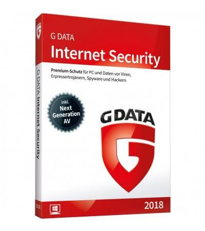 G DATA Internet Security 2018 , Sicherheit-Software(1 Jahr)