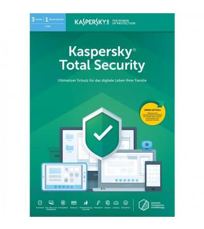 Kaspersky Total-Security , Sicherheit-Software(1 Jahr, Frustfrei)