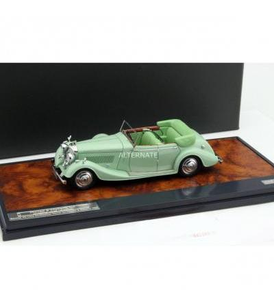 Matrix Bentley 4 1/2 Litre All-Weather Tourer Baujahr 1937 mint grün 1:43, Modellfahrzeug