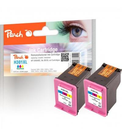Peach Tinte Doppelpack color PI300-486(kompatibel zu HP 301XL, CH564EE)