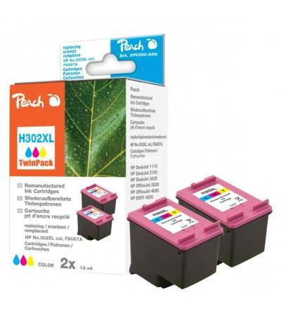 Peach Tinte DoppelPack Color PI300-656(kompatibel zu HP 302XL, F6U67A)