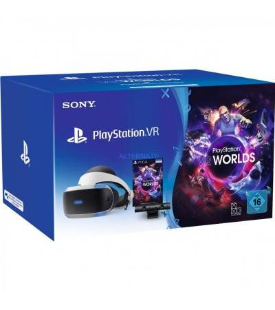 Sony PlayStation VR, VR-Brille(inkl. Camera + VR Worlds, CUH-ZVR2)