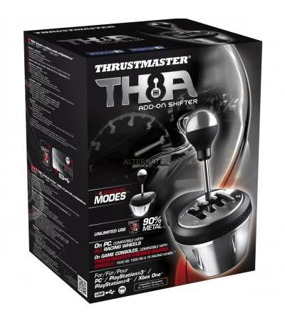 Thrustmaster TH8A Add-On Shifter, Schalthebel(schwarz/silber)