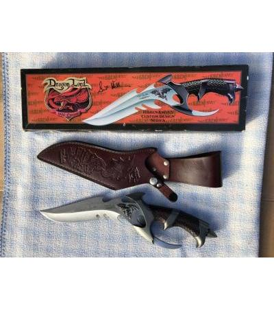Нож DRAGON LORD 1996 Edition Hibben Knives Custom Design Series Signature Edition